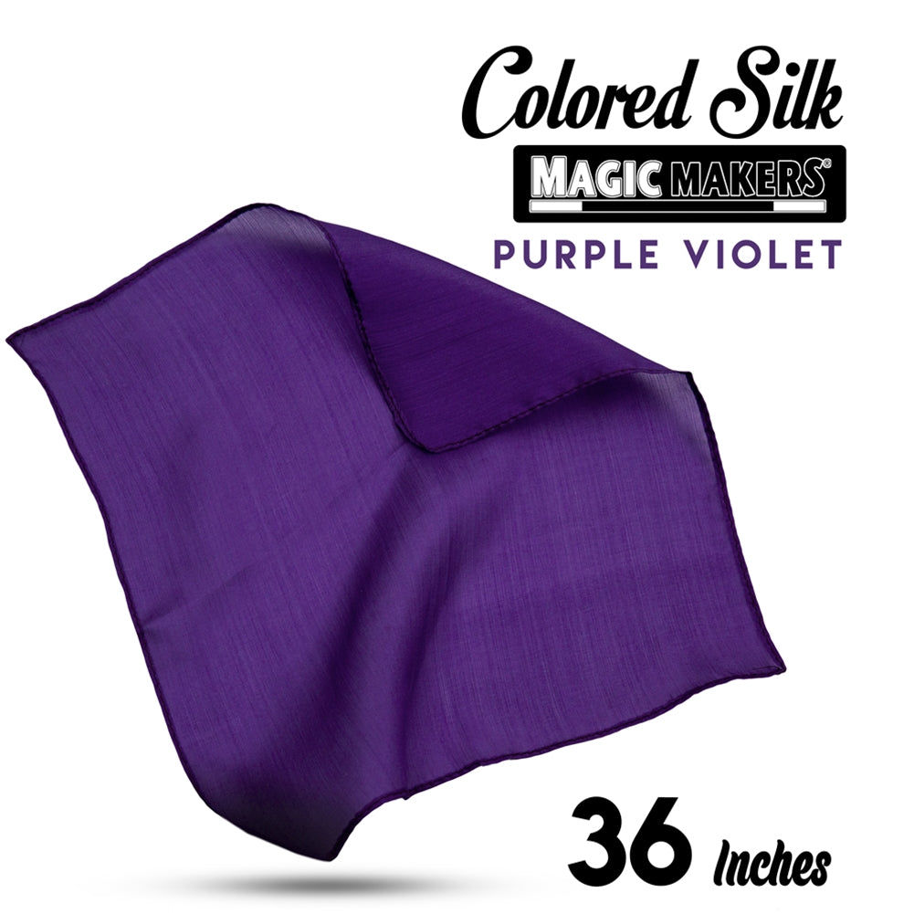 Purple Violet 36 inch Colored Silks- Professional Grade