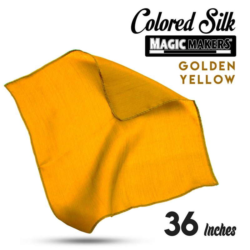 Golden Yellow 36 inch Colored Silks- Professional Grade