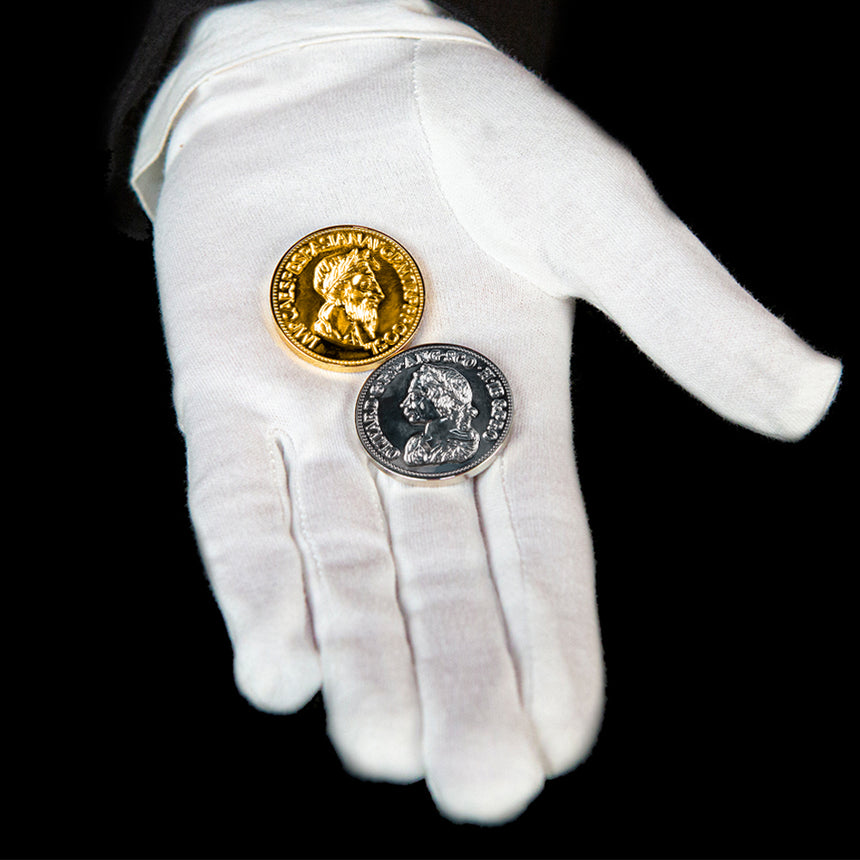 Gold and Silver Coin Magic Illusion