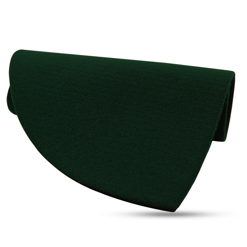 "Medium Hunter Green Half Circle Pad - 17.25"" x 9"""