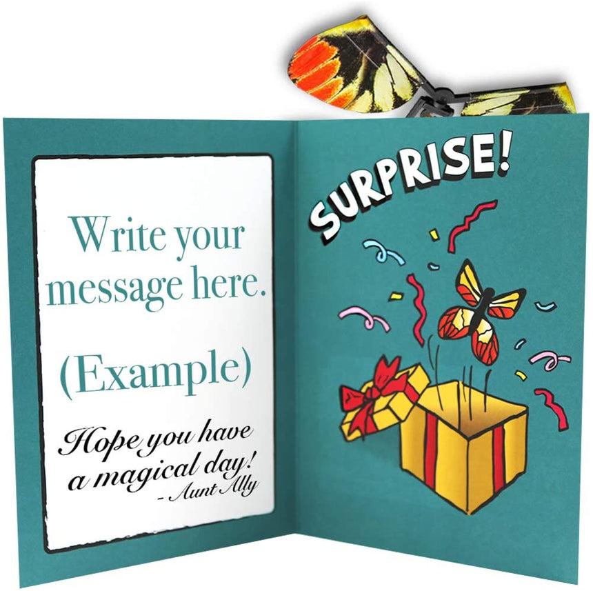 Adams Flying Butterfly Card Surprise Magic Makers Brand