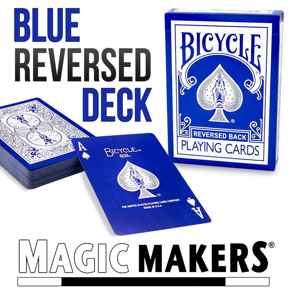 Black Blue Purple Bicycle Red Yellow Gaff Cards From Magic Makers and Green Decks