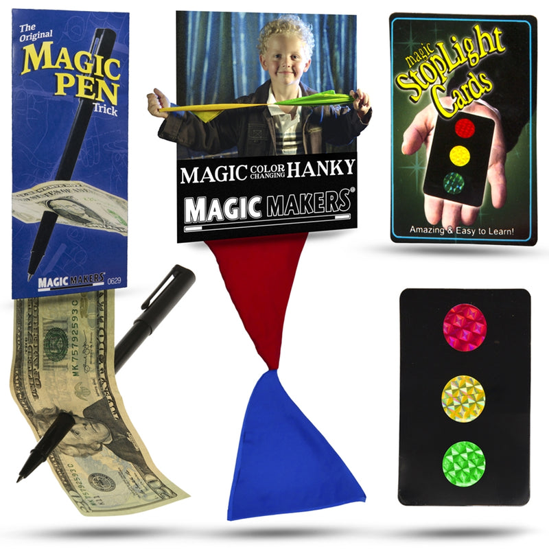 Magic Set - Color Changing Hanky, Stop Light Cards and Magic Pen
