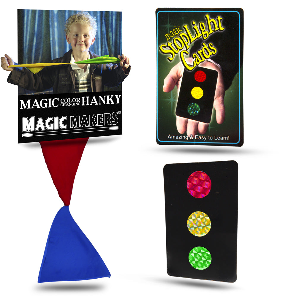 Magic Kit - Color Changing Hanky and Stop Light Cards