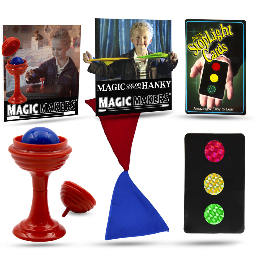 Magic Kit - Color Changing Hanky, Stop Light Cards and Ball & Vase