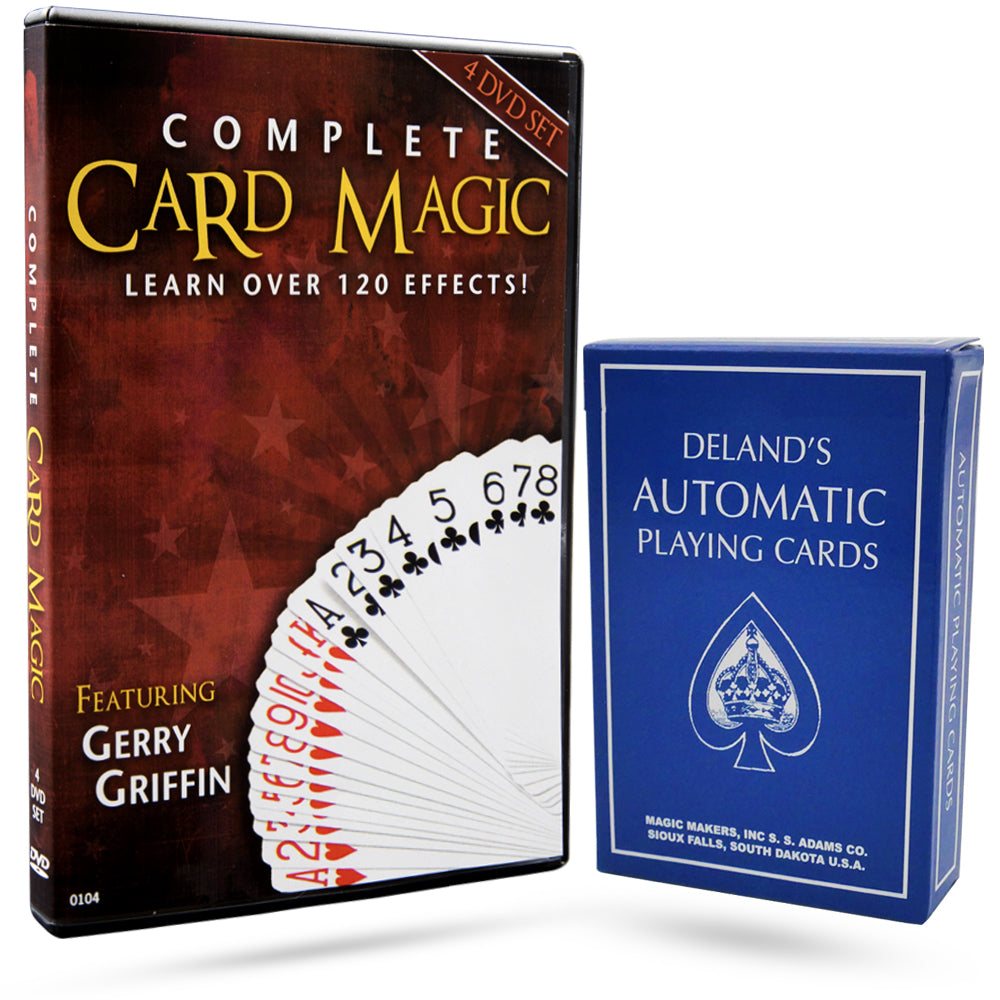 Complete Card Magic Set- Deland's Automatic Deck Included