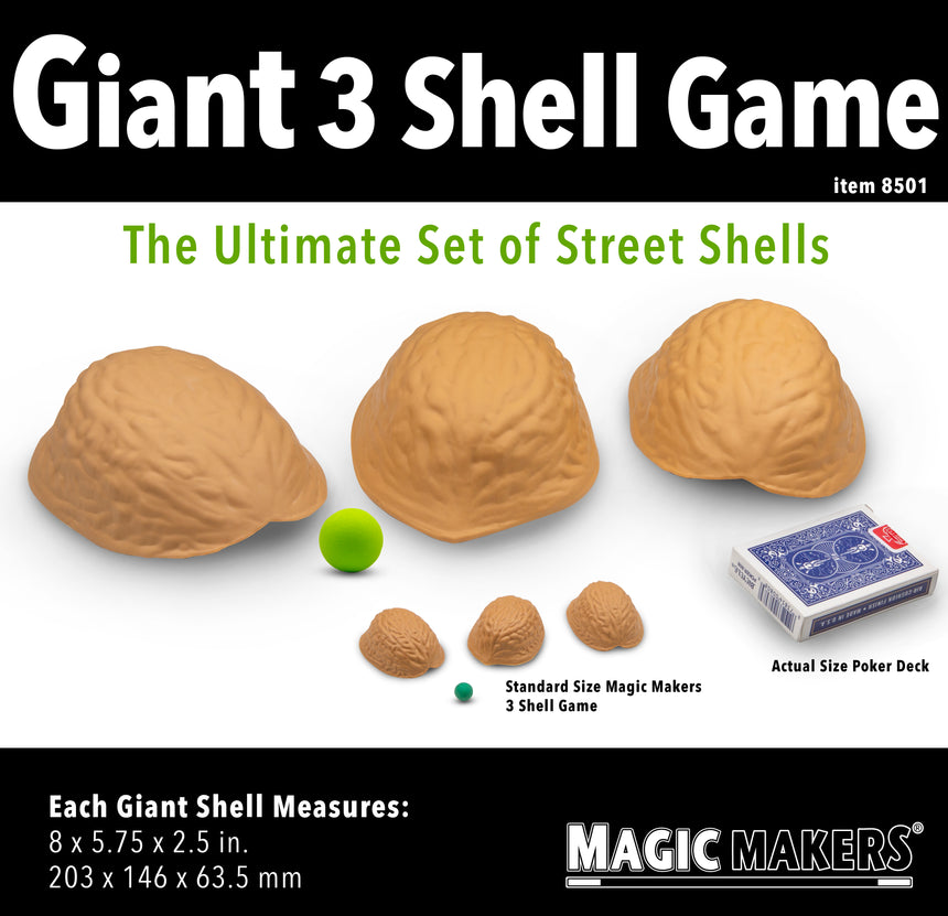 giant three shell game magic tricks