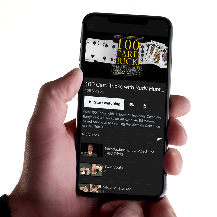 100 Card Tricks Kit - Instant Download & Streaming Access