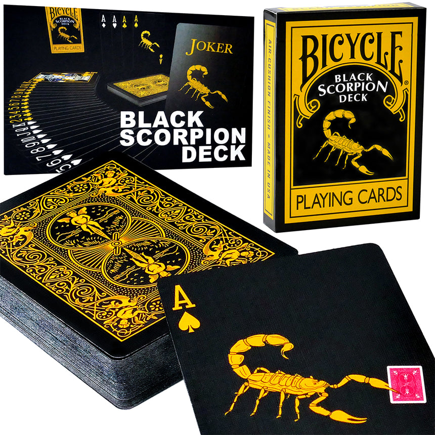 Magic Black Scorpion Bicycle Deck