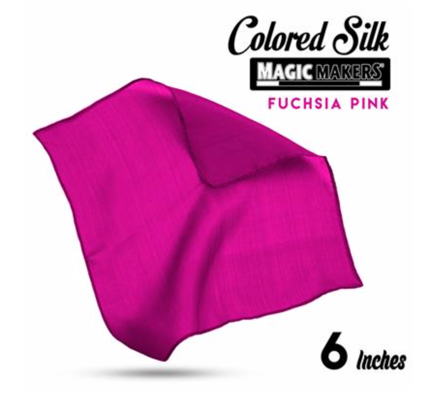 Fuchsia Pink 6 inch Colored Silk SINGLE