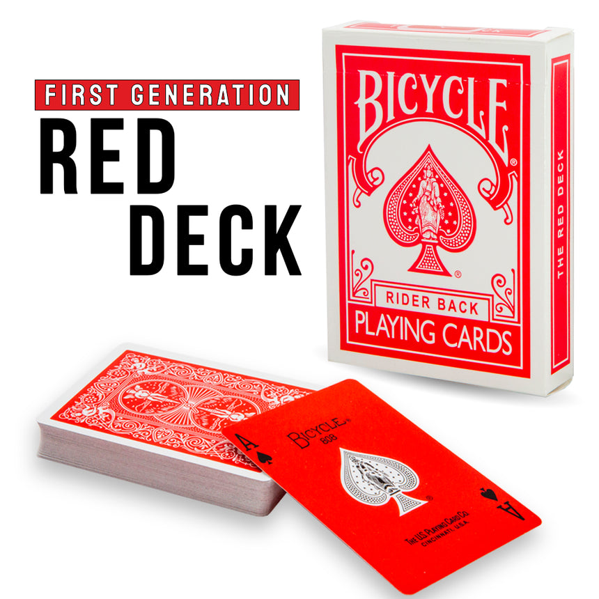 First Generation Bicycle Red Deck