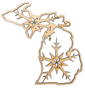 Michigan Christmas Ornament - My Wood Crafting