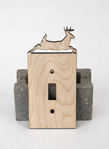 Single Toggle Switch Covers - Maple - My Wood Crafting