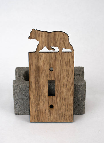SINGLE TOGGLE SWITCH COVERS - OAK - My Wood Crafting