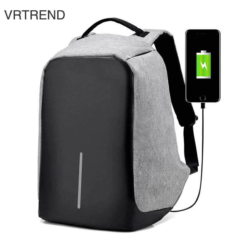 VRTREND USB Charge Anti Theft Backpack Men Travel Security Waterproof School Bags College Teenage Male 15inch Laptop Backpack - The French Guy