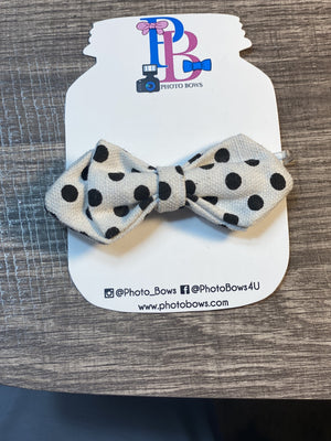 Black & White Polka Dot Fashion Baby Bowtie