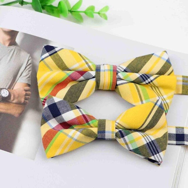 Yellow Daddy & Me Bow Ties - High Point Enterprise