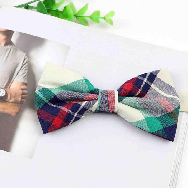 Green Multi-Color Daddy & Me Bow Tie - High Point Enterprise
