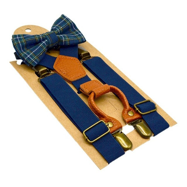 Toddler Suspenders & Luxury Bow Tie Set - High Point Enterprise