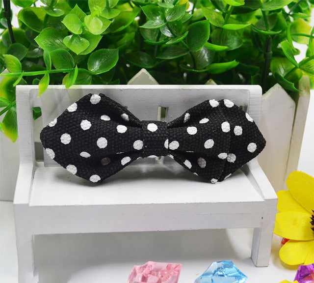 Black & White Polka Dot Fashion Baby Bowtie - High Point Enterprise