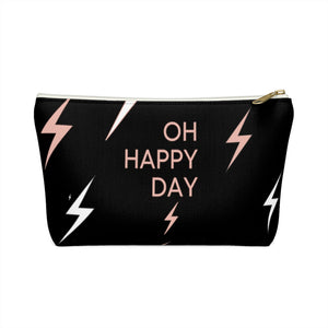 Oh Happy Day Accessory Pouch w T-bottom by Mint n Coco