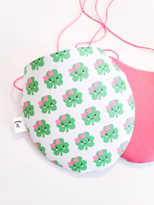 SHAMROCK BABY WITH PINK BACK