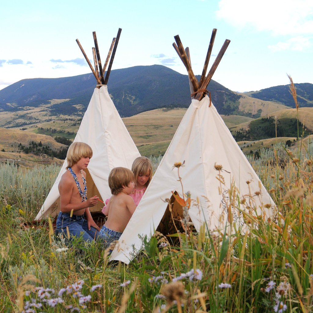 5x5 White Cotton Canvas Tipi