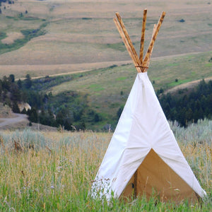 6x6 White Cotton Canvas Tipi