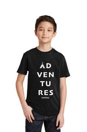 """Adventures"" Youth T-shirt"