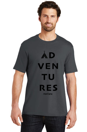 """Adventures"" Men's Crew T-shirt"