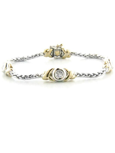 John Medeiros Antiqua Three Station Crystal Circle Bracelet