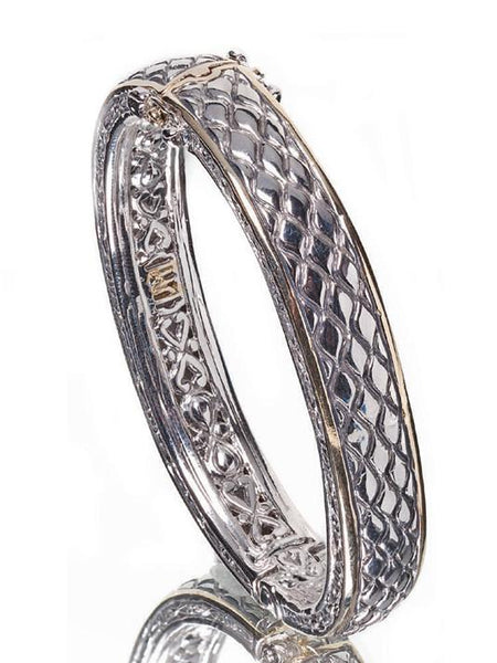 Lattice Collection - Palermo Edition - Hinged Bangle Bracelet