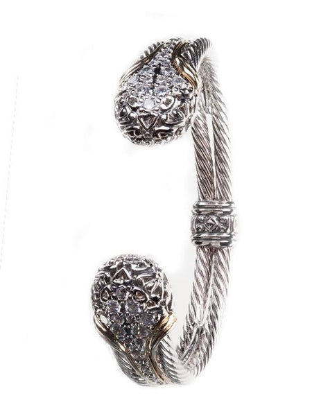 Lattice Collection - Palermo Edition - Pavé Double Wire CZ Cuff Bracelet