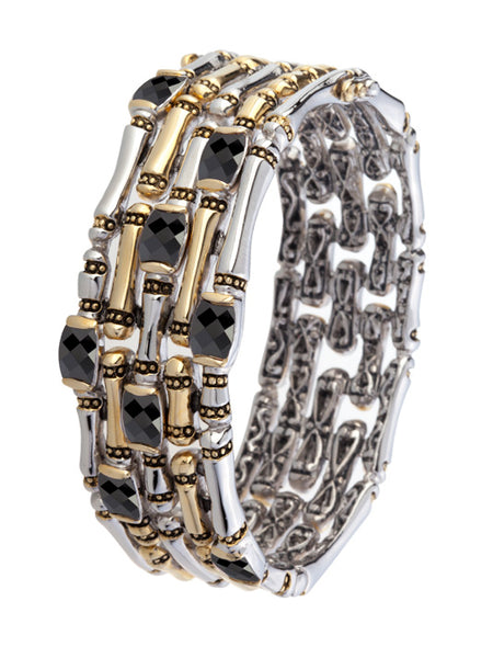 Canias Cor Collection Five Row Hinged Bangle Bracelet