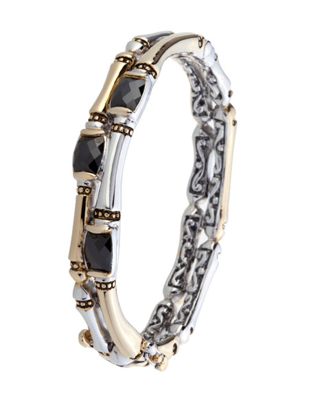 Canias Cor Collection Two Row Hinged Bangle Bracelet