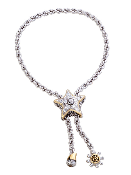 Celebration Pavé Starfish Adjustable Bolo Bracelet