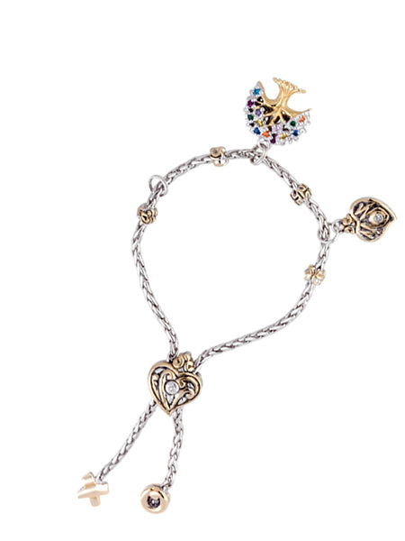 Multicolor Tree of Life Adjustable Bracelet with FREE MOM Heart Charm