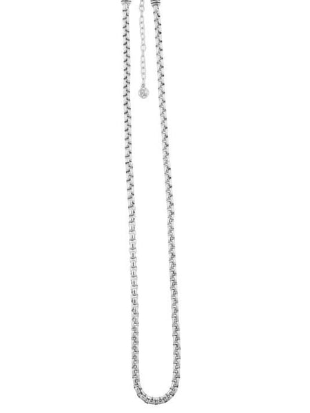 Thin Belcher Rhodium Chain
