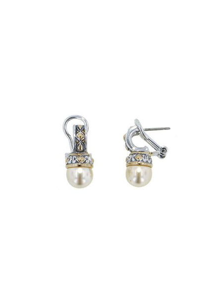 Ocean Images Small Pearl Earrings