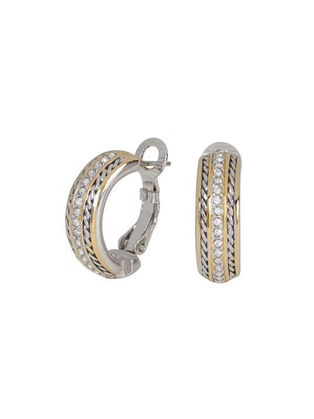 Briolette Pavé Hoop Earrings