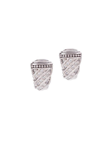 Ocean Images Sparkling Seas Pavé Post with Clip Earring