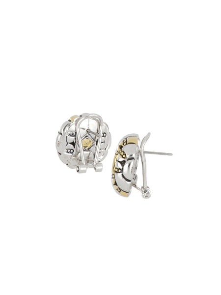 Canias Collection Square Omega Clip Post Earrings