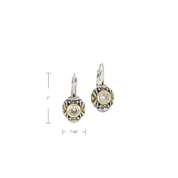 Antiqua Circle French Wire Earrings