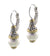 Ocean Images Collection Seashell Pearl French Wire Earrings