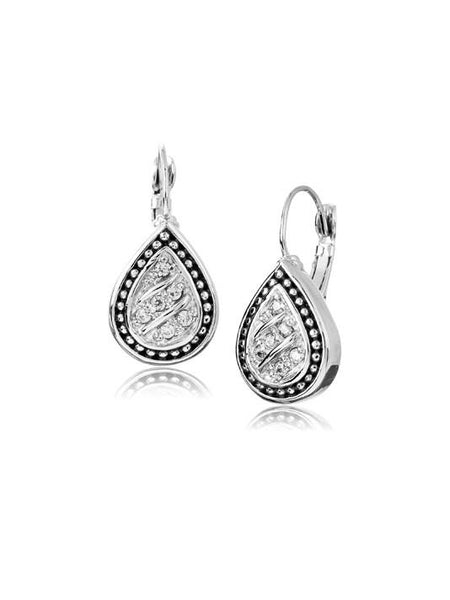 Pavé Tear Drop with Clip Earrings by John Medeiros Jewelry Collections.
