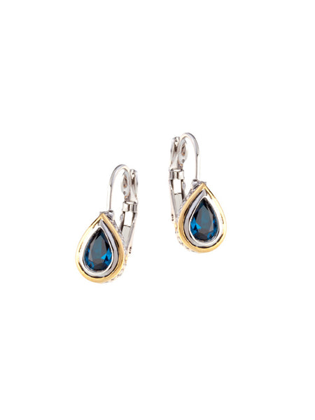 Beijos 8x5mm CZ Pear Bezel Set Earrings