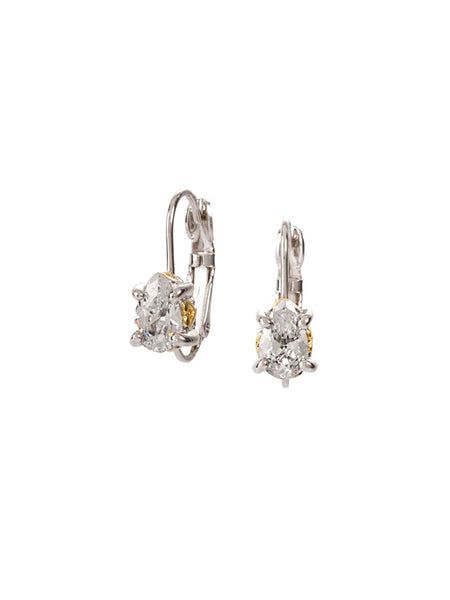Beijos 8x5mm CZ Pear Prong Set Earrings