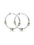 Beaded Pavé Triple Bead Hoop Earrings