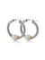 Antiqua Pavé Twisted Wire Hoop Earrings