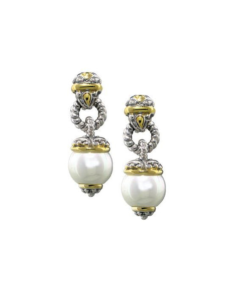 Ocean Images Collection Cultured Seashell Pearl Post Earrings